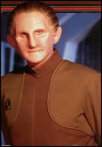 René as Odo in Star Trek: Deep Space Nine