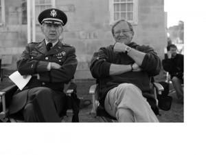 Rene with director Charlie Haid