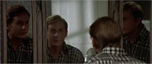 Hugh in the mirror